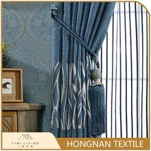 Hot selling designer fancy blackout luxury jacquard curtain