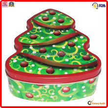 tree shape cookie wholesale metal christmas gifts tin cans