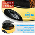 4 Meals Dry Wet Food Bowl Automatic Dog Auto Feeder
