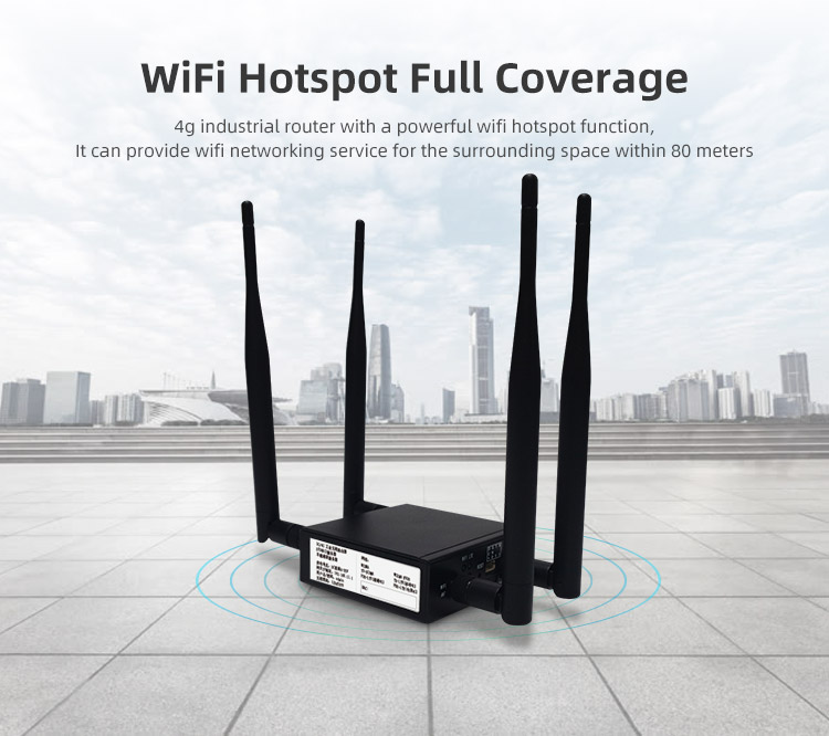 Support insert one sim card 150mbps industrial enterprise soho outdoor wireless 4g lte router with external antenna
