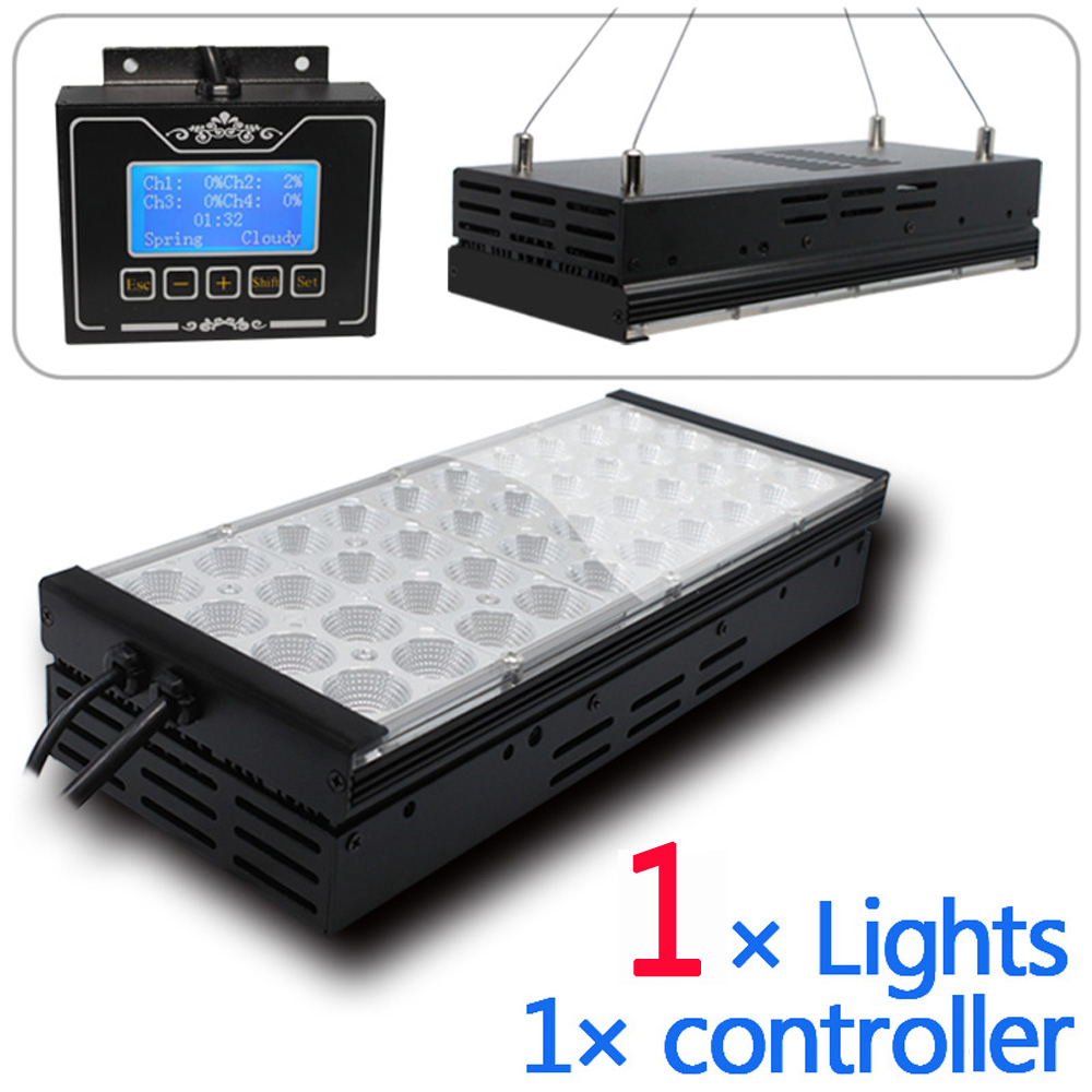 40-60cm freshwater aquarium led lighting programmable sunrise sunset 4 channels setting lunar cycle led aquarium lights