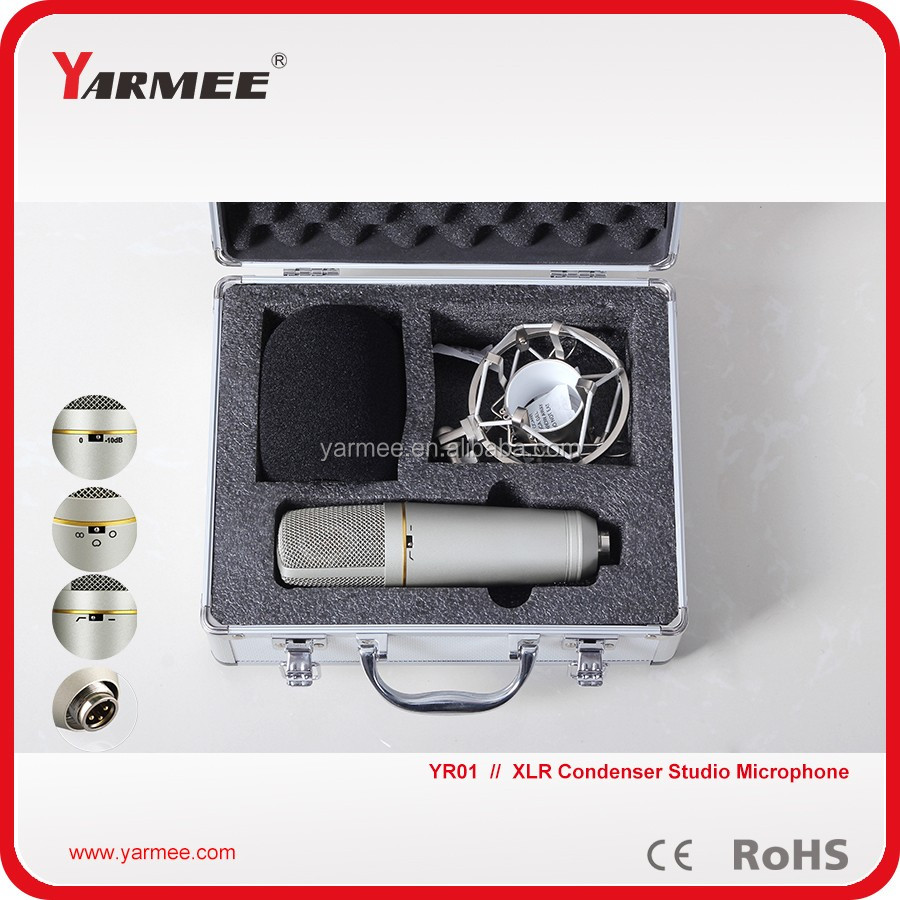 XLR Condenser Recording Mic Style and Wired Communication Large Diaphragm Condenser Microphone