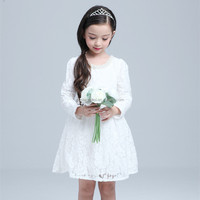 grenadine lace baby girl party wear dresses long sleeve cotton frock suit