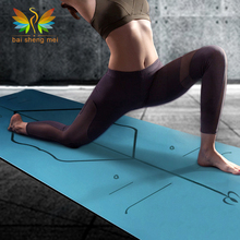 Hot eco friendly 100% natural rubber yoga mat with body alignment system