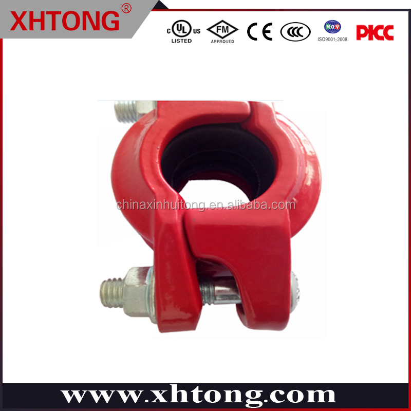 2017 Excellent grooved connection angle pad coupling widely used in water supply and fire fighting