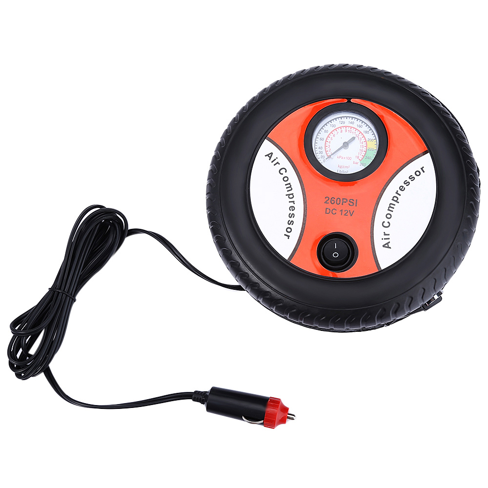 Mini Portable Car Air Compressor 12V Auto Inflatable Pumps Electric Tire Inflaters 260psi