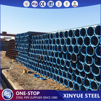 ASTM A36 ERW Oil Paint Coating Steel Pipes, API 5L Hot Rolled SCH40 Carbon Welded Line Pipes