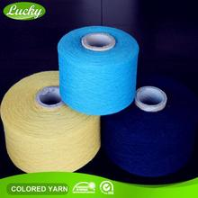 First leading mill cheapest 6s open end/oe recycle dyed cotton yarn for gloves