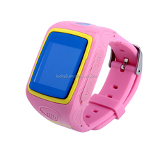 Bluetooth Call kid gps gsm gprs system smart watch With pushing message, such as MMS, QQ, Wechat, news title, calendar events