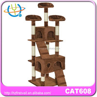 Best quality sisal cat tree condo wooden cat tree