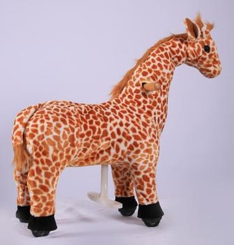 Lovely walking mechanical Giraffe for mall and playground, Plush toy riding animal Giraff