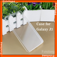 Mobile phone PC material back cover Crystal Transparent TPU phone cover for Samsung galaxy j3