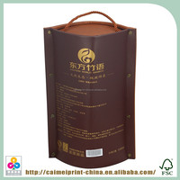 custom printed cheap recycle brown grocery paper bags