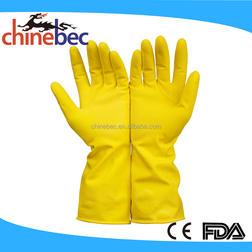Reusable Latex Cleaning Gloves Waterstop Dishwashing Gloves Household laundry Rubber Gloves