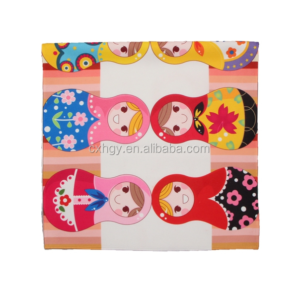 hot sale good quality cheap promotional custom printed microfiber face cloth