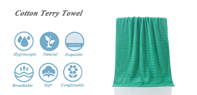 100% cotton towel fabric rolls custom face towel with logo