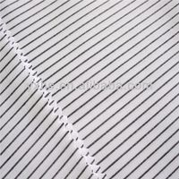 100%cotton yarn dyed fabric light color narrow stripe fabric