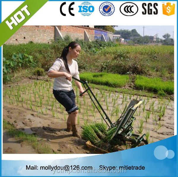 hot sell 2 rows manual rice transplanter