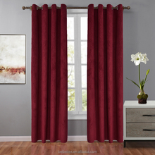 New Window Panel red/brown Blackout curtains Embossed Living Room Shade Curtains