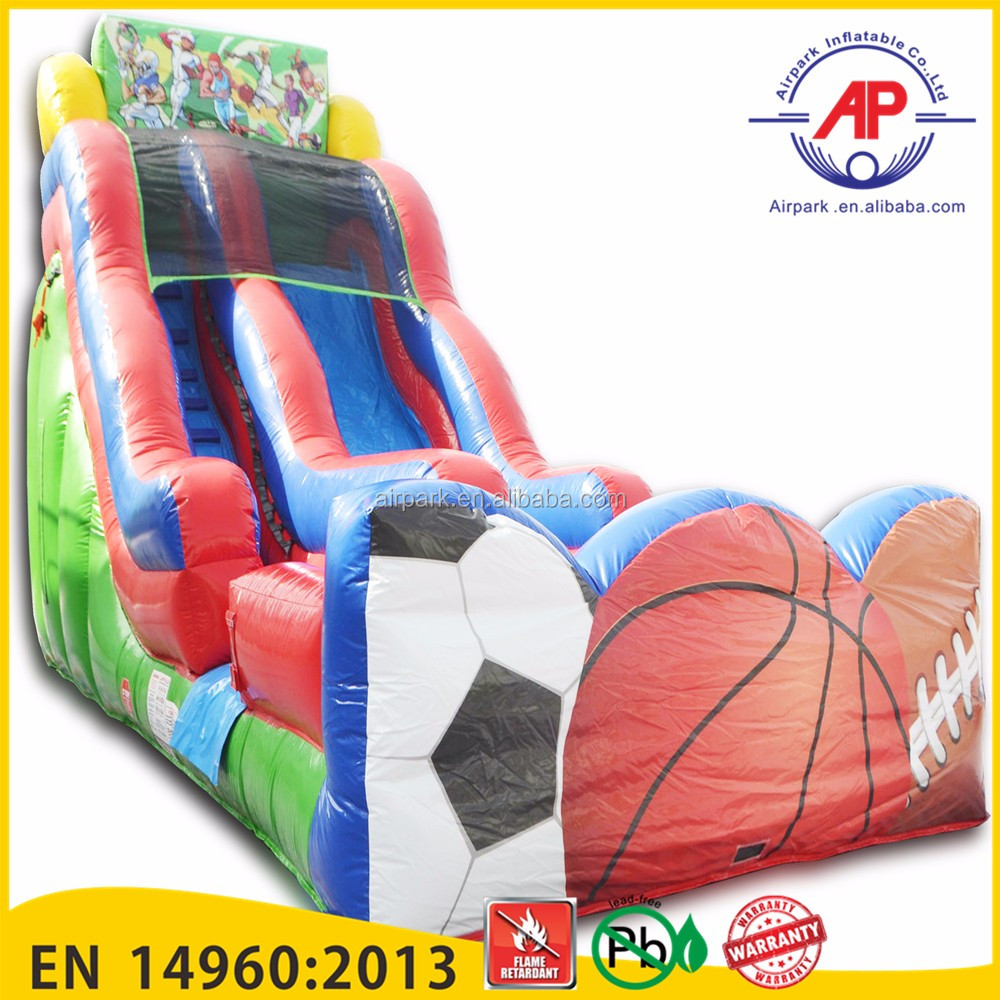 Guangzhou Airpark Outdoor giant pool slide commercial giant inflatable slide for sale