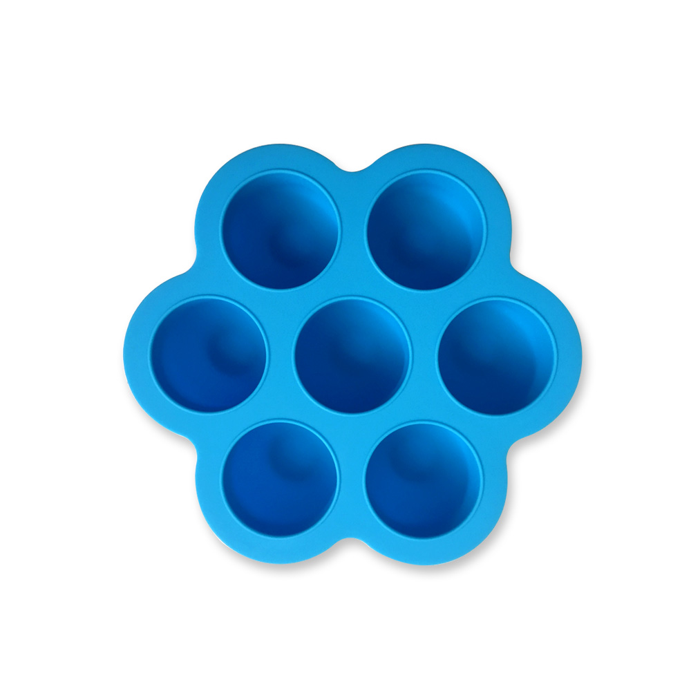 Hot Selling 7 Cavity 100% Food Grade Silicone Egg Bites Mold with Lid