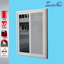 Superwu aluminum modern style decorative bathroom sliding windows