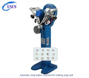 USUN model :US-SW102 Automatic plastic snap button attaching machine for clothing industry