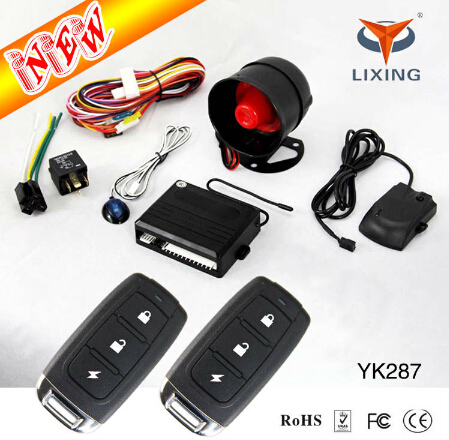 car alarm system <strong>W</strong>/built-in immobilizer and Anti Hijack one way smart car alarm system, alarm car with easy install manual