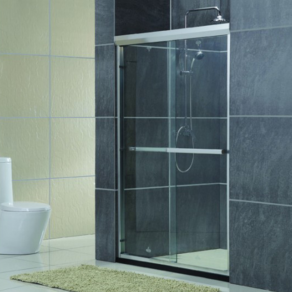 Bathroom tempered glass sliding shower door jinna, sliding glass doors KDS-PY02