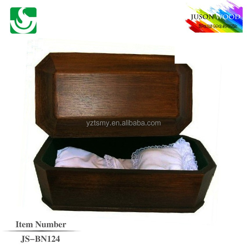 JS-BN124 luxury infant and baby casket supplier