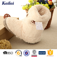 Attractive brand long beige rubber kids boot