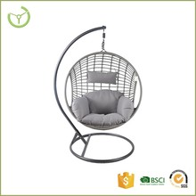 Garden metal PE rattan wicker outdoor furniture hanging egg chair
