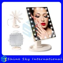 FREE SHIPPING Valentine's Gifts LED Touch Screen Makeup Mirror Vanity LED Mirror With 16/22 LED Lights Adjustable Countertop