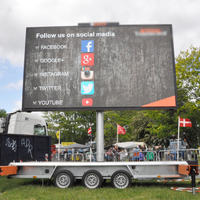 UHLED Electric Roadside Mobile Led Screen Sign Trailer for Sale