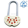 Different colors mini love heart lock with key & without key