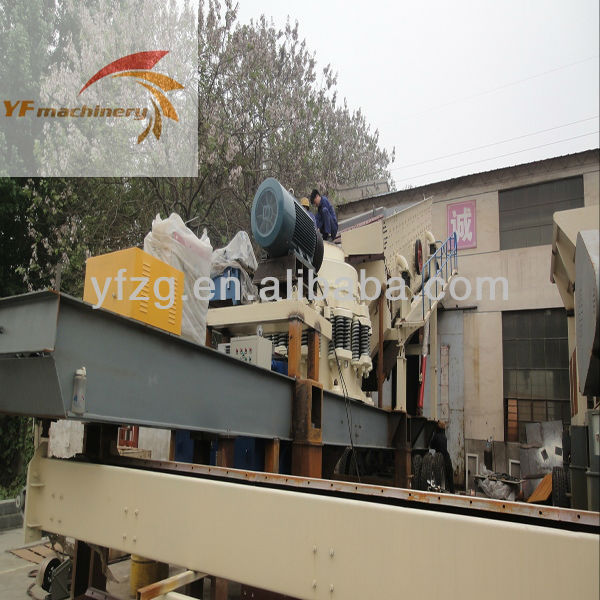 20 ton per hour capacity Mobile crusher station with diesel engine for sale