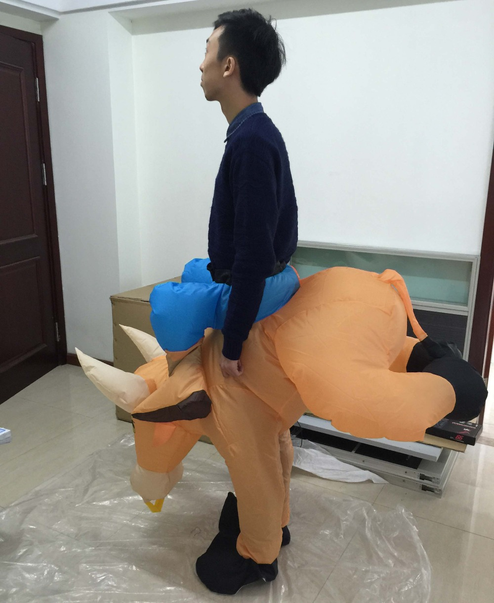 adult cow costume inflatable bull suit inflatable ride on animal costume for party