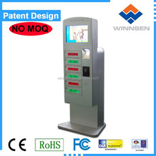 Winnsen coin/note/card operated Bar free standing mobile phone charging station APC-06B