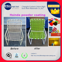Manufacturers Electrostatic polyester Metallic Furniture Paint Powder Coating