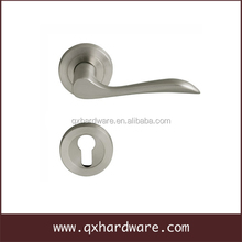 High quality Satin Nickel Turn Lock Privacy Door Lever Handle