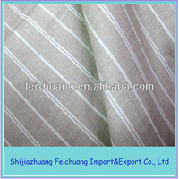 Cvc Striped fabrics with 70% cotton and 30% polyester