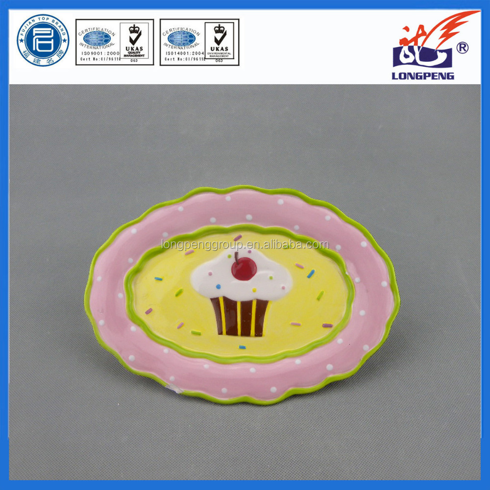 Customized Ceramic Cake shaped Plates,Christmas Ceramic Plates,Cheap Dinner Plates