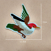 personalized machine bird embroidered patches fowl applique