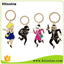 Wholesale rubber soft PVC keychain/customized rubber keyring/3d logo pvc key chain