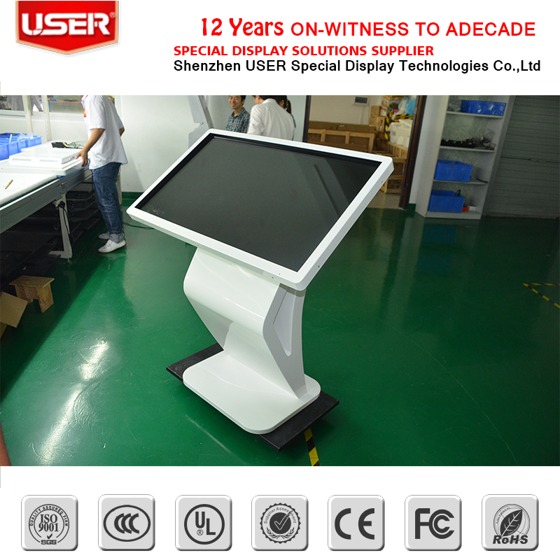 Customize Floor Standing/free standing information Multi touchscreen Kiosk