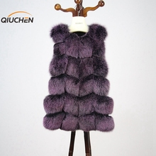 Chinese made well luxury and cut fox fur warm fur vest for fashion women