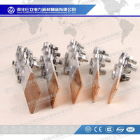 2015 High Quality Bimetallic Cu-Al Transition Terminal Connector / Cu Al Bimetal Electrical Wire terminal Clamps