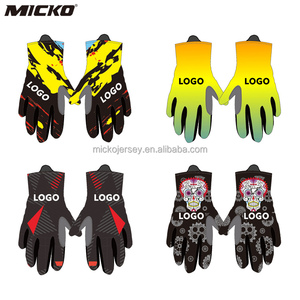 Micko ODM OEM Outdoor Bike Sports Glove Anti-shock Moisture Wicking Bicycle Long Finger Cycling GLoves Guantes de Ciclismo