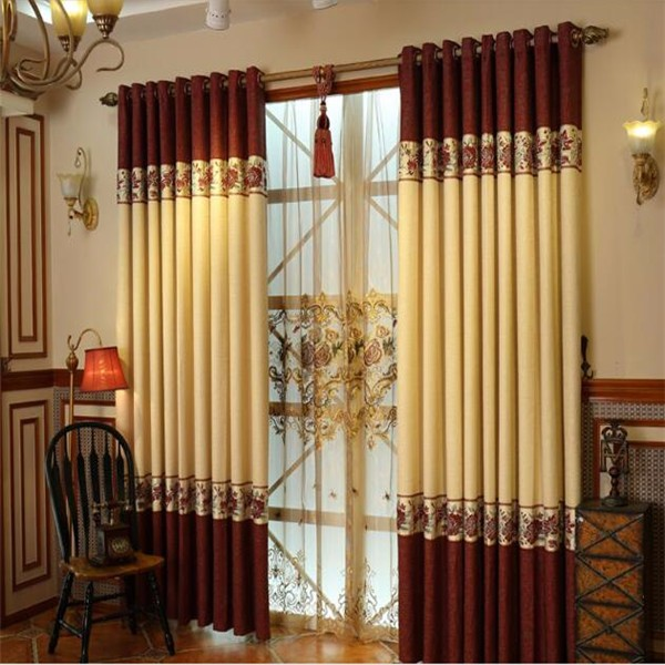 Popular Elegant Jacquard Blackout Ready Made Bedroom Curtains
