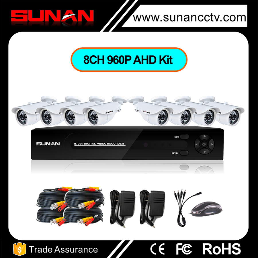 Free OEM AHD cctv security system, hd 8 channel cctv camera system with best price